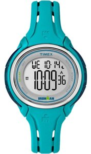 Timex TW5K90600 Ironman Women's Blue Silicone Band With White Dial