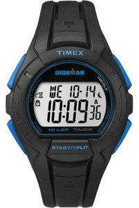 Timex TW5K93900 Ironman Men's Black Resin Band With Grey Digital Dial