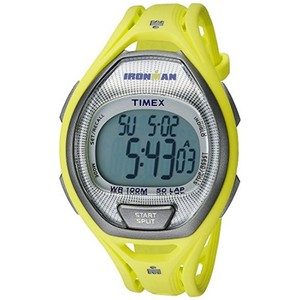 Timex TW5K96100 Ironman Men's Yellow Resin Band With Grey Digital Dial
