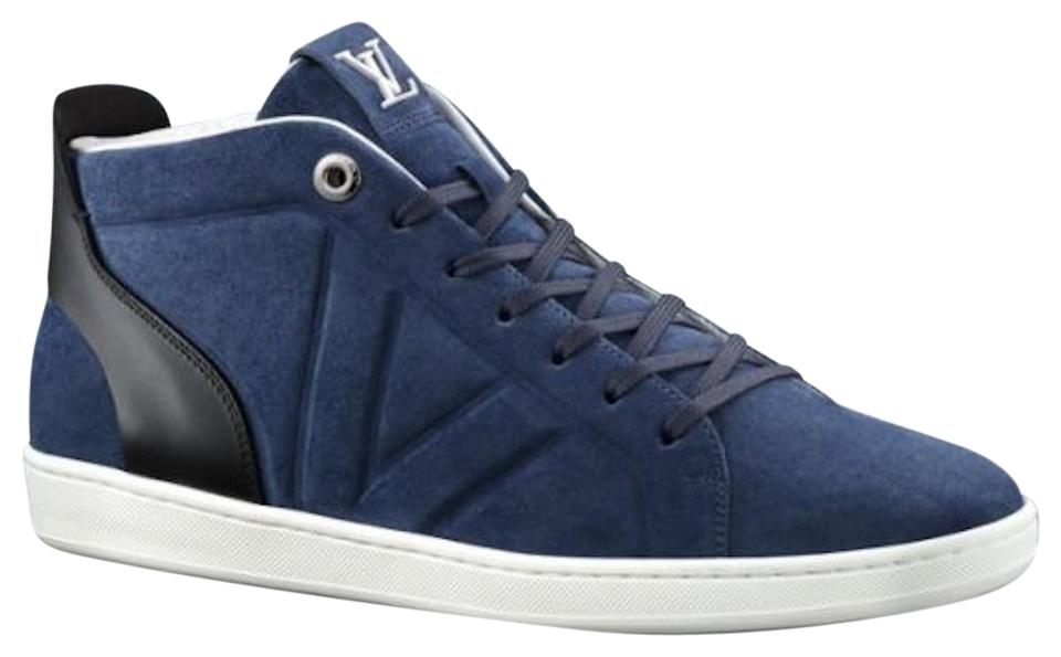 e954ffc9277d Louis Vuitton Abysse (Blue) Men s Fuselage Suede Sneaker Boot Sneakers