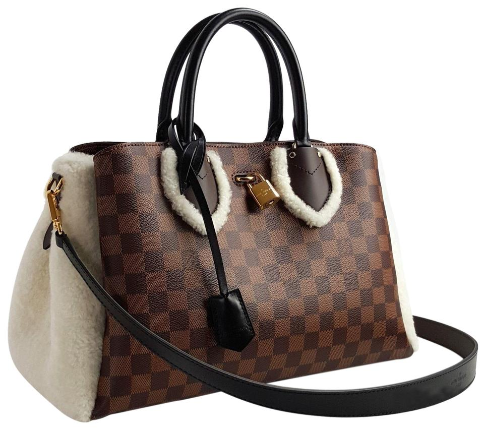 Louis Vuitton Normandy Damier Ebene Shearling Tote in Brown Image 0 ... 7b852061d97a4