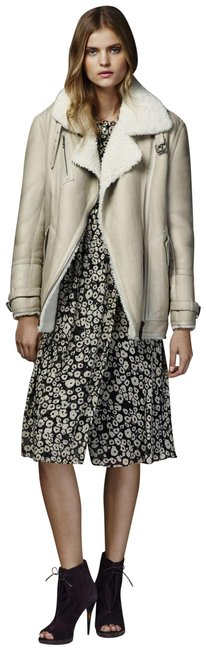 Burberry Women's Shearling Natural White Leather Jacket Image 1