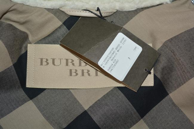 Burberry Women's Shearling Natural White Leather Jacket Image 11