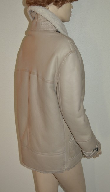 Burberry Women's Shearling Natural White Leather Jacket Image 7