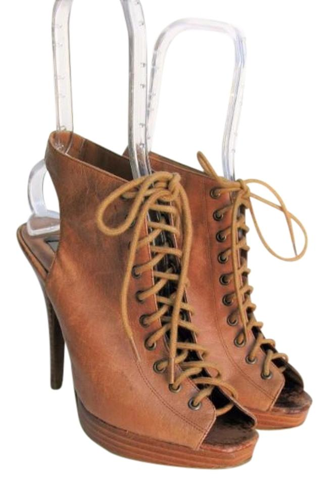 5db321854a Steve Madden Brown P-karli Platform Lace Up Stiletto Boots/Booties ...