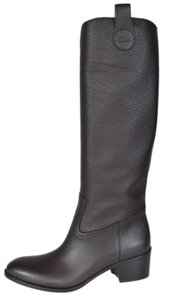 Gucci Knee High Leather Brown Boots