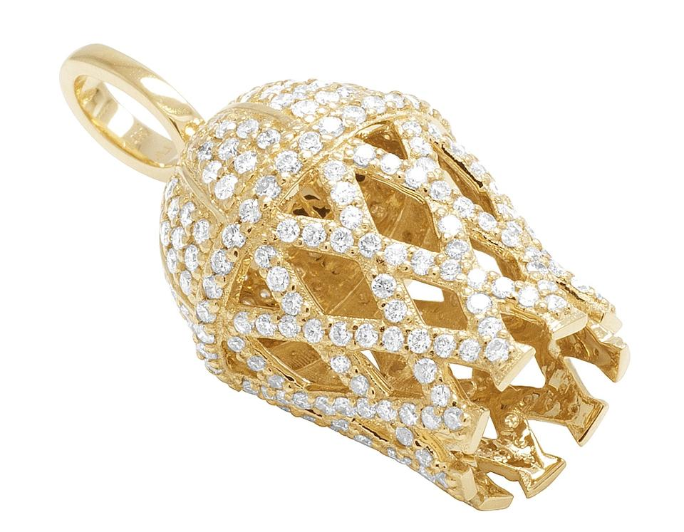 Jewelry unlimited yellow mens 14k gold 3d basketball hoop diamond jewelry unlimited mens 14k yellow gold 3d basketball hoop diamond charm pendant 23ct 1234567 aloadofball Images