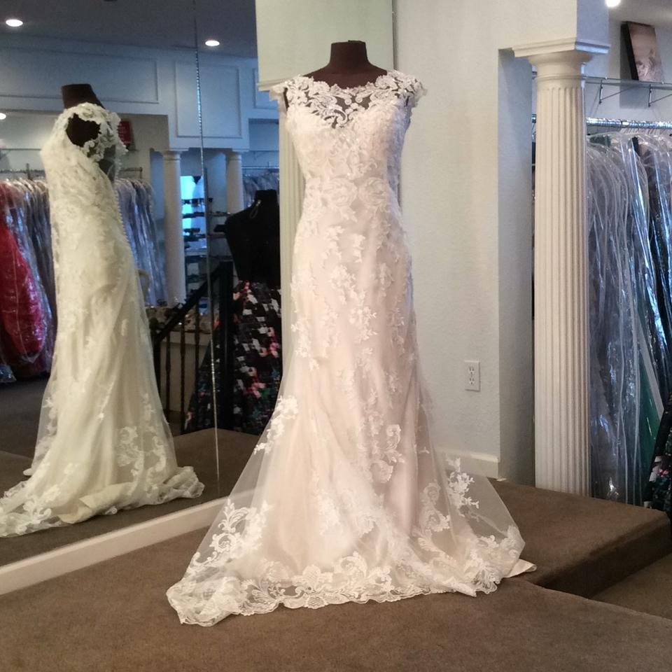 Maggie Sottero Lace Wedding Gown: Maggie Sottero Ivory Over Light Gold Lace 4ms997 Modern