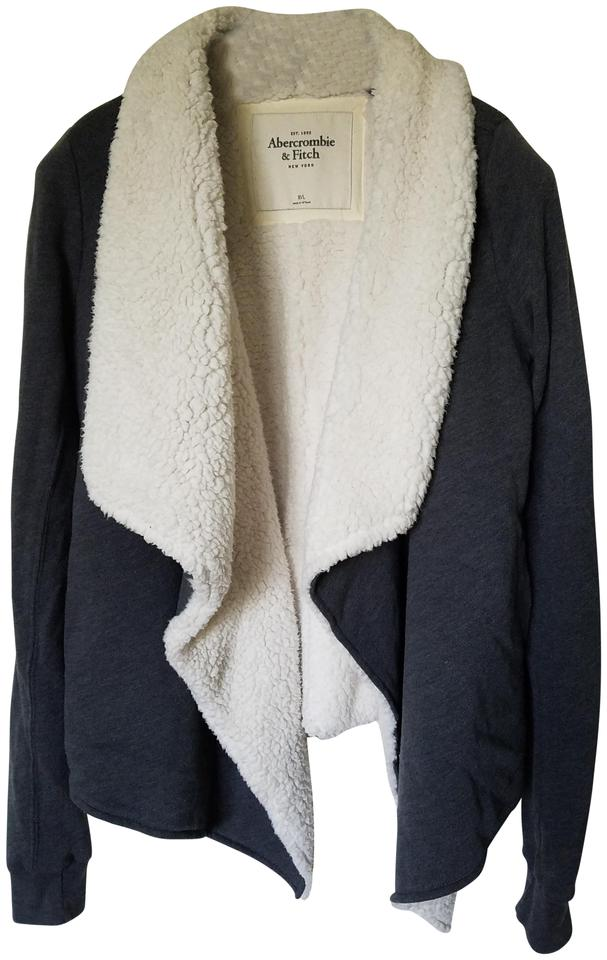 48a93ff67 Abercrombie & Fitch Gray A&f Sherpa Lined Cardigan Size 8 (M) - Tradesy