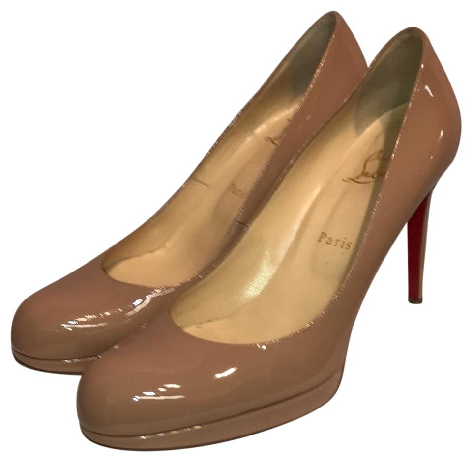 designer fashion 72cbd 8f221 Christian Louboutin Beige New Simple Pump 100 Platforms Size EU 39 (Approx.  US 9) Regular (M, B)