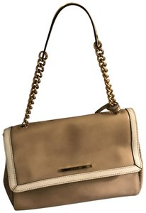 INNUE' Satchel in beige with off white and gold