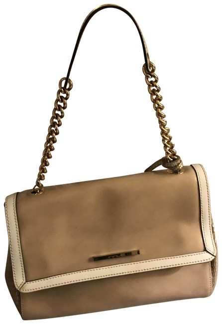 INNUE' Italian Beige with Off White and Gold Leather Satchel INNUE' Italian Beige with Off White and Gold Leather Satchel Image 1