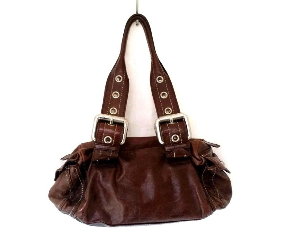 Francesco Biasia Leather Small Satchel In Brown