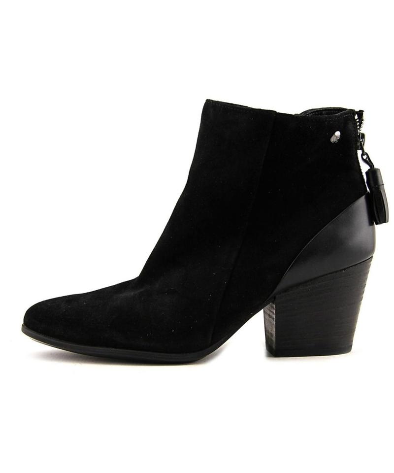 paul green black suede tassel ankle boots booties size us 6 5 regular m b tradesy. Black Bedroom Furniture Sets. Home Design Ideas