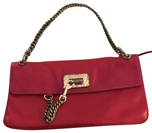 7649cae76d01 Michael Kors Chain Mk Pink Lambskin Leather Shoulder Bag - Tradesy