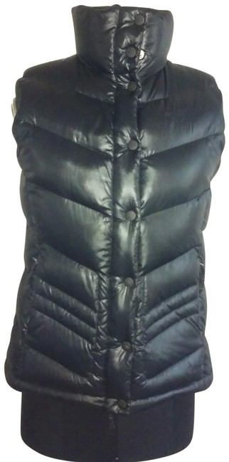 Item - Black Quilted Puffer Vest Size 6 (S)