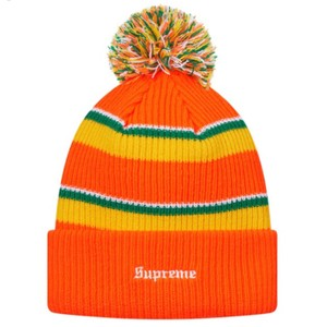 Supreme big stripe beanie