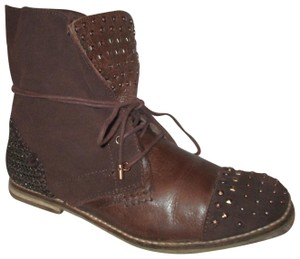 The Sak Leather Suede Studded Ankle Jada brown Boots