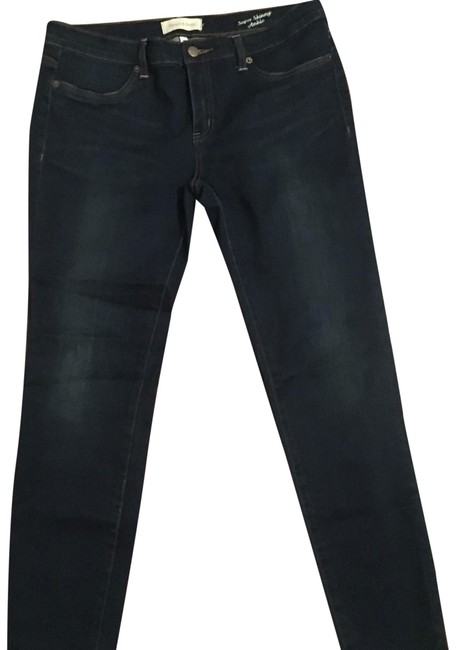 Item - Blue Dark Rinse Super Ankle Skinny Jeans Size 32 (8, M)