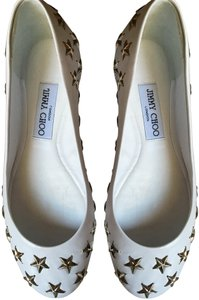 Jimmy Choo White Flats