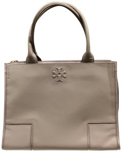 Tory Burch Ella Canvas Leather Tote in french grey