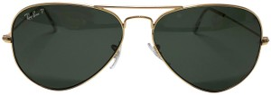 Ray-Ban Free 3 Day Shipping Gold Metal Polarized Aviator