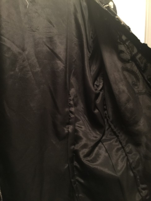 Marshall field's Vintage Silk Sequin And Blazer Top Black white Image 2