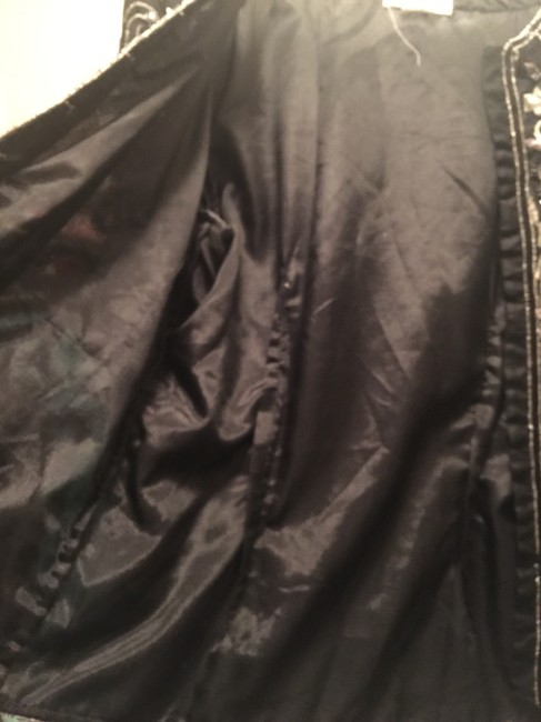 Marshall field's Vintage Silk Sequin And Blazer Top Black white Image 3