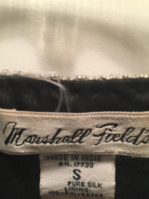 Marshall field's Vintage Silk Sequin And Blazer Top Black white Image 4