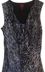 212 Collection Top Black, White,Blue