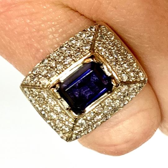 Estate CERTIFIED 2700 ESTATE LADIES EMERALD CUT AMETHYST DIAMOND 10KT RING Image 10