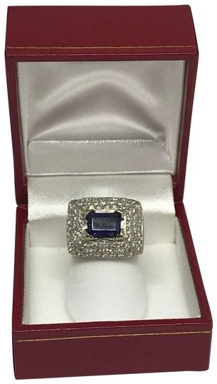 Estate CERTIFIED 2700 ESTATE LADIES EMERALD CUT AMETHYST DIAMOND 10KT RING Image 6
