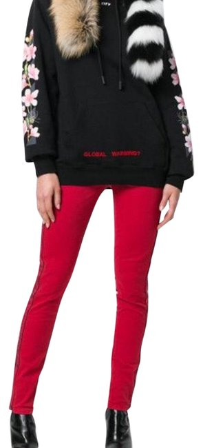 Preload https://img-static.tradesy.com/item/22599003/red-mid-rise-stretch-skinny-jeans-size-28-4-s-0-3-650-650.jpg