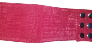 Body Central New With Tags Cranberry Red Velvet Snap Belt