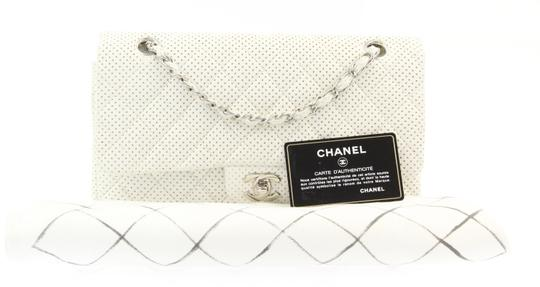 Chanel Classic Flap Medium Perforated Leather Cross Body Bag Image 11