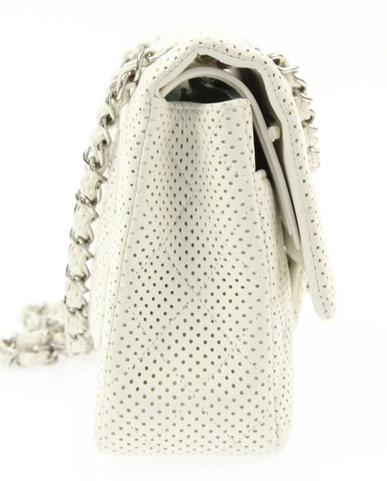 Chanel Classic Flap Medium Perforated Leather Cross Body Bag Image 7