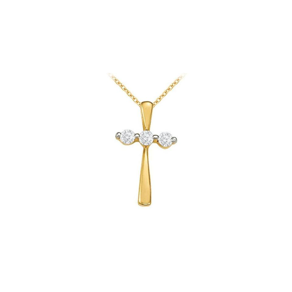 White yellow april birthstone cz three stone cross pendant in 18k marco b april birthstone cz three stone cross pendant in 18k yellow gold verme aloadofball Image collections