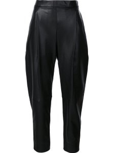 Vince Lambskin Leather Straight Casual Luxury Baggy Pants Black