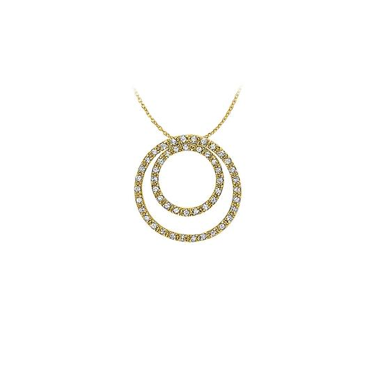Preload https://img-static.tradesy.com/item/22599406/white-yellow-april-birthstone-cubic-zirconia-double-circle-pendant-in-gold-v-necklace-0-0-540-540.jpg