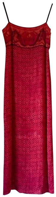 Laundry by Shelli Segal Red Column Sundress Mid-length Casual Maxi Dress Size Petite 6 (S) Laundry by Shelli Segal Red Column Sundress Mid-length Casual Maxi Dress Size Petite 6 (S) Image 1