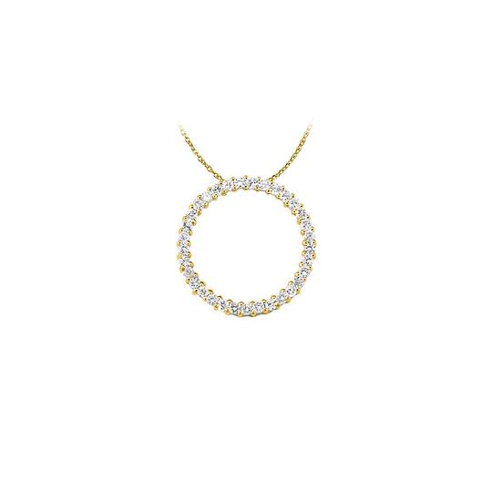 Preload https://img-static.tradesy.com/item/22599451/white-yellow-cubic-zirconia-circle-pendant-in-gold-vermeil-lovely-gi-necklace-0-0-540-540.jpg