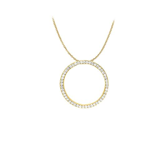 Preload https://img-static.tradesy.com/item/22599466/white-yellow-cubic-zirconia-circle-pendant-in-gold-vermeil-100-ct-tgwjewelry-gift-necklace-0-0-540-540.jpg