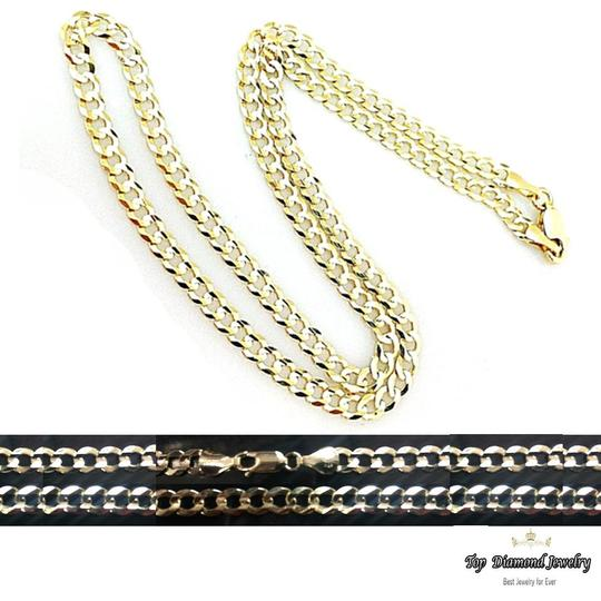 Top Gold & Diamond Jewelry 14K SOLID YELLOW GOLD 4.7mm Cuban Link Chain Necklace Men 26