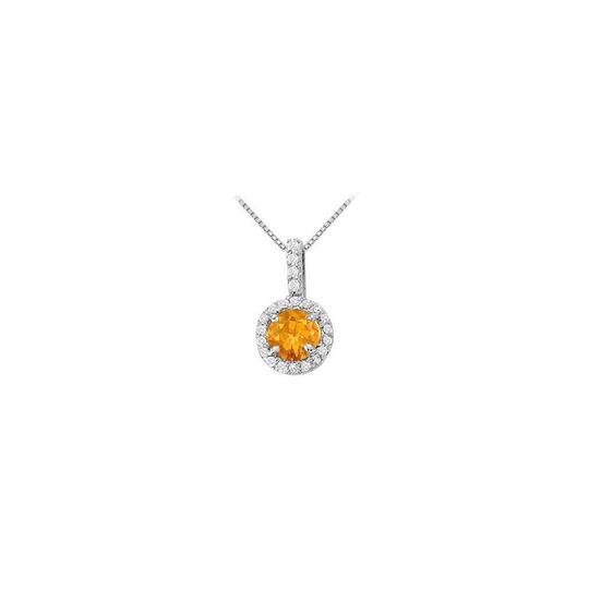 Preload https://img-static.tradesy.com/item/22599574/yellow-silver-fancy-round-citrine-and-cubic-zirconia-halo-pendant-in-sterling-necklace-0-0-540-540.jpg
