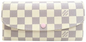 Louis Vuitton Louis Vuitton White Damier Azur Emilie Wallet