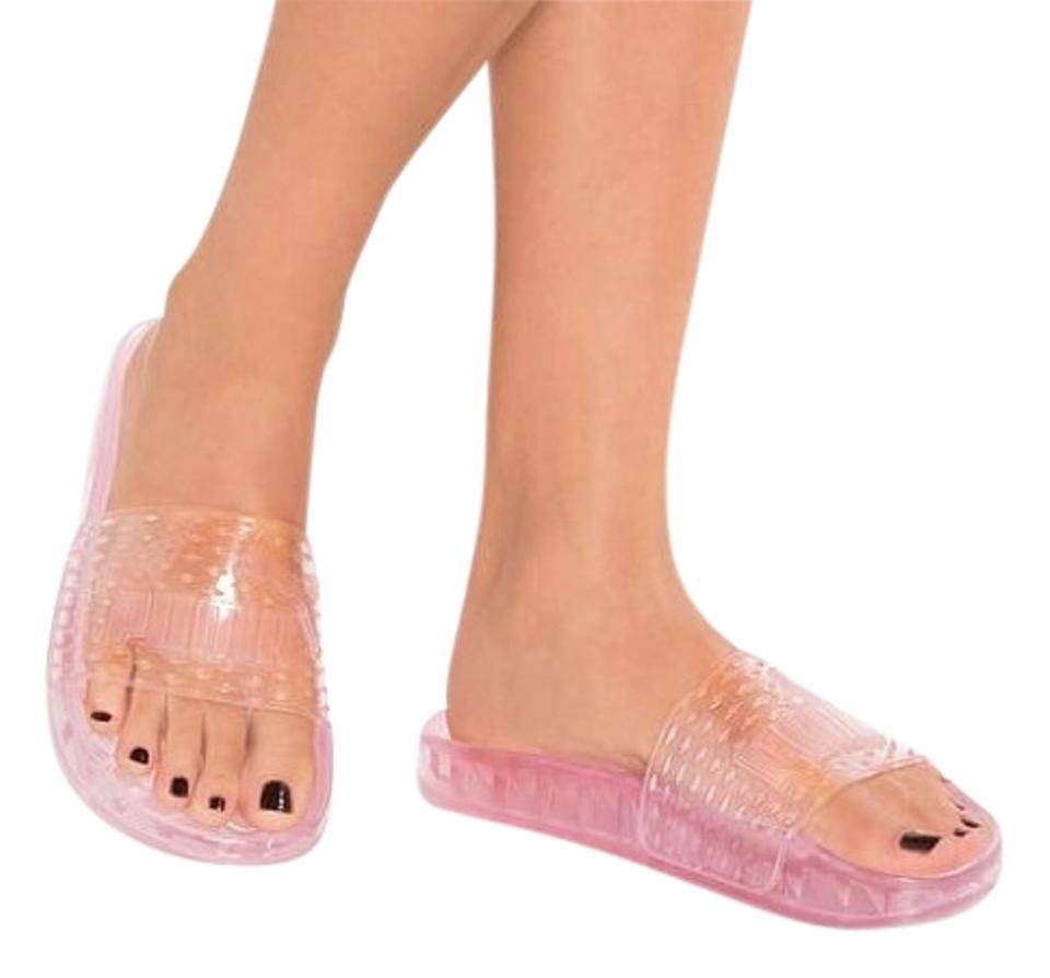 f6e23867559 FENTY PUMA by Rihanna Pink Jelly Slides Sandals. Size  US 8.5 Regular (M ...