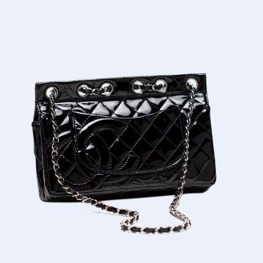 Chanel Patent Leather Rare Limited Edition Flap Shoulder Bag Image 3