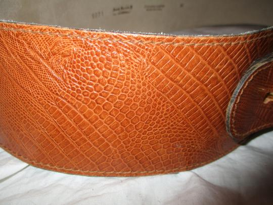 Anne Klein II for Calderon reptile embossed wide leather
