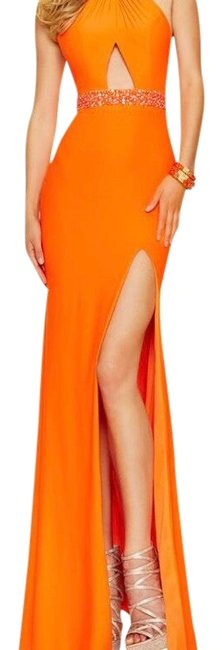 Preload https://img-static.tradesy.com/item/22599922/paparazzi-tangerine-98108-long-formal-dress-size-10-m-0-2-650-650.jpg