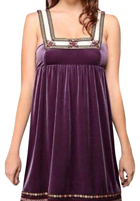 Free People short dress Purple Cream on Tradesy